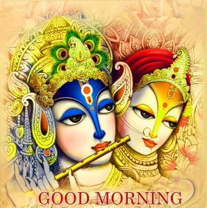 Radha Krishna Good Morning Images Photo