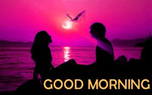 Lover Good Morning Images Wallpaper With Sunrise